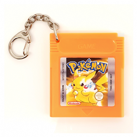 Pokemon Yellow Replica Gameboy Cartridge Keyring